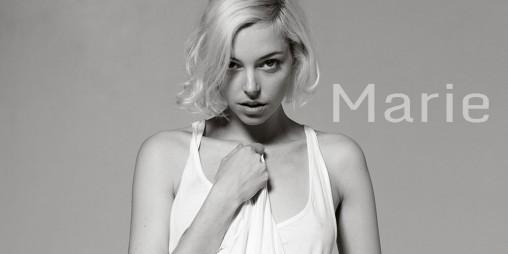 Heartbeat recording of fashion model